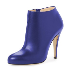 Royal Blue Fashion Boots 4 Inches Heels Casual Comfy Shoes US Size 3-15