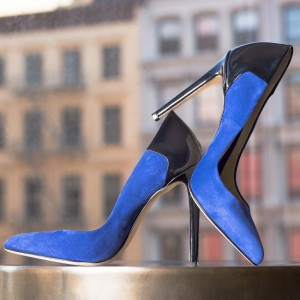 Royal Blue Pointy Toe Stiletto Heels Pumps