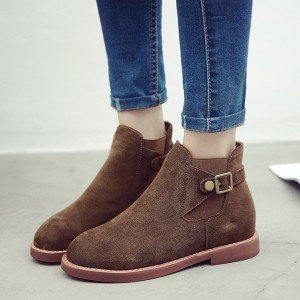 Tan Vintage Shoes Ankle Boots Comfortable Flats School Shoes
