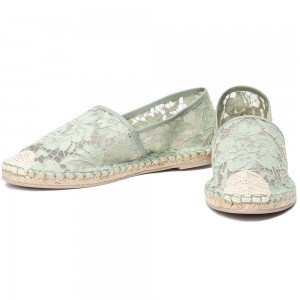 Teal Nets Corded lace Comfortable Flats