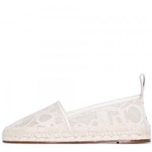 White Lace Comfortable Flats