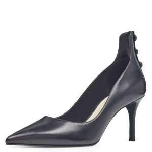 Women's Black Pointy Toe Office Heels Kitten Heels Pumps