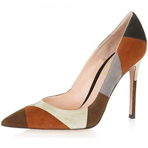 Women's Multicolor Stiletto Heels Pumps Slip on Office Shoes