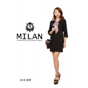 Women's Short Sleeve Elegant Summer Midi Office Dress