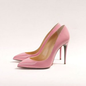 Pink Stiletto Heels Pointy Toe Patent Leather Cute Pumps