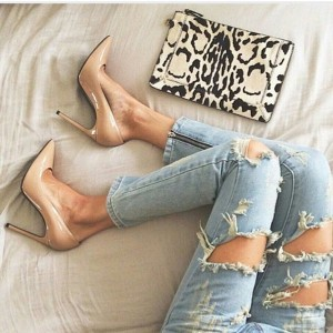Women's Nude Office Heels Pointy Toe Stiletto Heels Pumps for Work