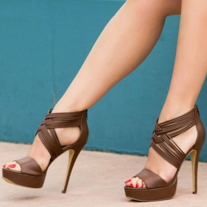 Doris Brown Sandals