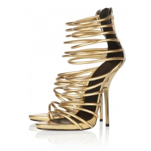 Tammy Golden Gladiator Sandals