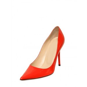 Women's Red Stiletto Heels Pointy Toe Patent Leather Sexy Office Heels