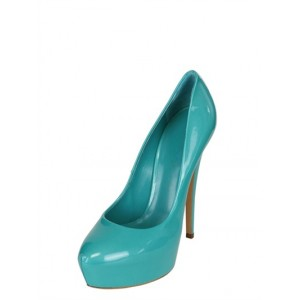 Turquoise Heels Closed Toe stiletto heels Platform High Heels Shoes