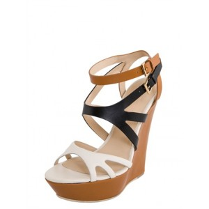 Black and White Strappy Sandals