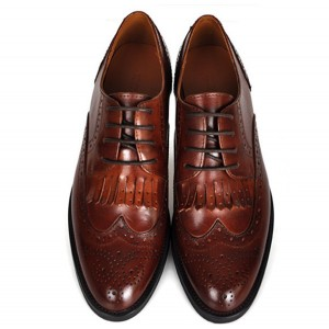 Women's Brown Round Toe Oxfords Lace-up Vintage Shoes