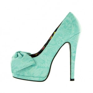 Women's Green Bow Stiletto Heel  Peep Toe Heels Sandals  Shoes