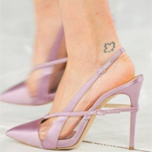 Women's Orchid Slingback Pointed Toe Stiletto Slingback Heels Sandals