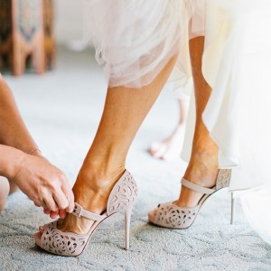 Nude Platform Wedding Shoes Hollow Out Stiletto Heels Mary Jane Pumps