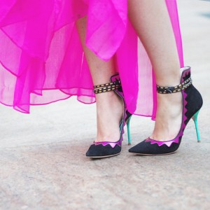 Women's Black Pointed Toe  Stiletto Ankle Strap Heels Shoes