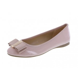 Women's Blush with Bow Round Toe Comfortable Flats Shoes