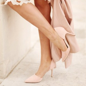 Women's Blush Shoes Chic D'orsay Heels