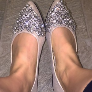 Women's Fashion Nude Wedding Shoes Rhinestone Comfortable Flats