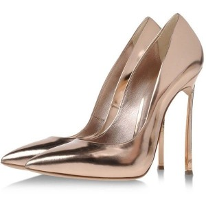 Women's Champagne Stiletto Heels Pointed Toe Pumps