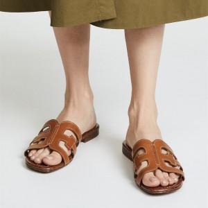 Tan Sandals Vintage Shoes Open Toe Mule Legend Sandals