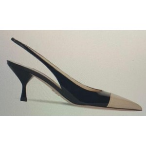 Custom Made Black and Nude Slingback Heels