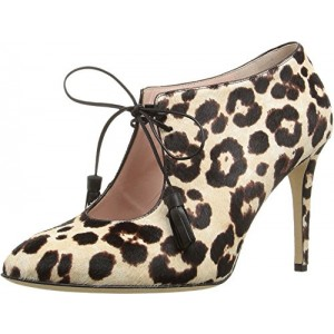 Women's Self-covered Stiletto Heel Cheetah-print Ankle Boots