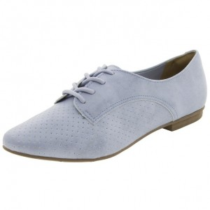 Light Blue Women's Oxfords Lace-up Comfortable Flats Office Shoes