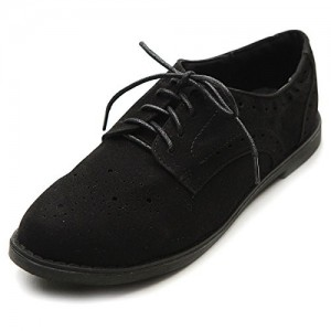 Black Comfortable Vintage Shoes Women's Oxfords& Brogues