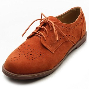 Women's Orange Oxfords Comfortable Vintage Shoes