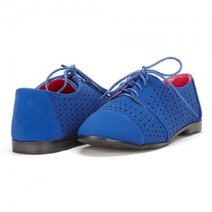 Royal Blue Comfortable Shoes Hollow Out Oxfords