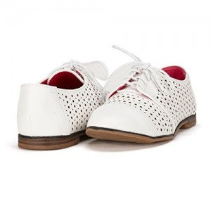 White School Shoes Lace up Oxfords Comfortable Flats