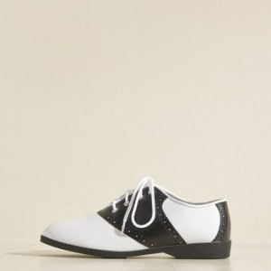 Black and White Vintage Shoes Lace-up Oxfords Comfortable School Shoes