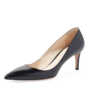 Women's  Black Commuting Low-Cut  Uppers Kitten Heels Shoes