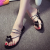 Silver Thong Sandals Flower Flat Beach Summer Sandals US Size 3-15