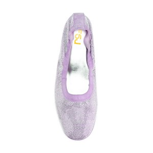 Orchid Sequined Round Toe Kitten Heel Pumps