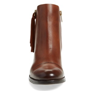 Women's Brown Tassels Side Zipper Vintage Boots