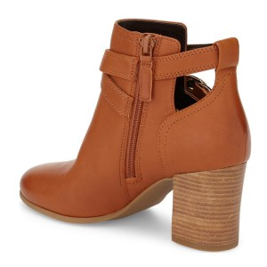 Zoe Orange Straps Ankle Boots