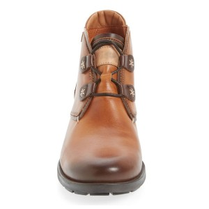 Women's Light Brown Lace-up Flat Vintage Boots