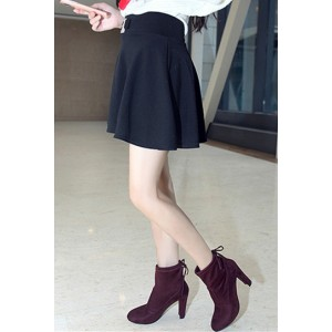 Maroon Chunky Heel Boots Round Toe Suede Ankle Booties for Women