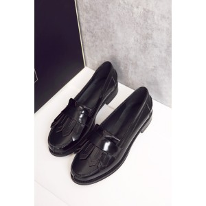 Women's Black Tassels Vintage shoes