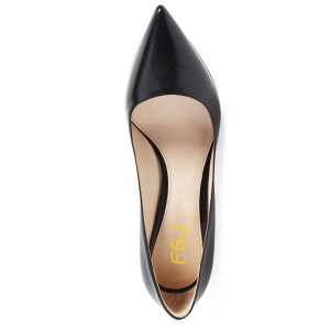 Classic Black Commuting Low-Cut  Uppers Stiletto Heel Pumps