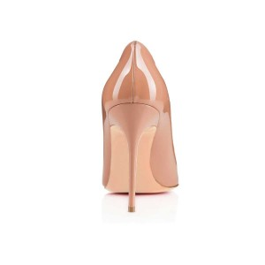 Nude Classic Pointy Toe Commuting Stiletto Heel Pumps