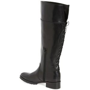 Black Comfortable Shoes Knee-high Jockey Boots