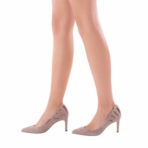 3 inch Heels Blush Hollow out Stiletto Heels Pointy Toe Pumps