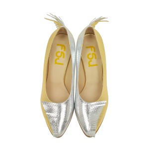 Women's Golden and Silver Stiletto Heels Pointed Toe Dress Shoes