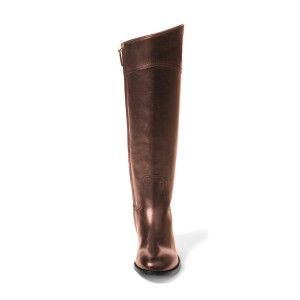 Dark Brown Fashion Boots Flat Knee-high Comfy Boots