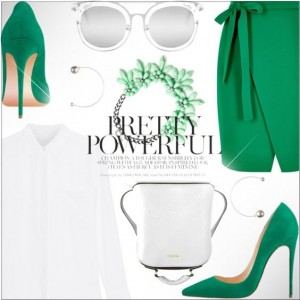 Women's Green Pointy Toe Stiletto Heels Dress Shoes Suede Commuting Pumps