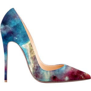FSJ Galaxy Stiletto Heels Pointy Toe Suede Pumps