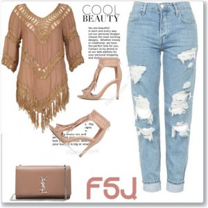 Khaki Fringe Sandals Open Toe Cut out Stiletto Heels